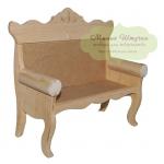 Кукольная скамья деревянная