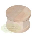 Шкатулка круглая деревянная