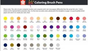 Палитра Sakura Koi Colouring Brush Pen